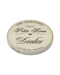The Valentino Poker Room Dealer Button XL