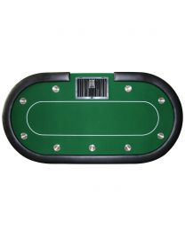 Pokertafel groen met dealer bak
