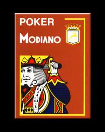 Bruine plastic speelkaarten Modiano