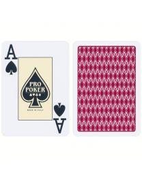 Plastic Speelkaarten Pro Poker Rood