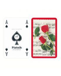 Rode rozen muziek speelkaarten
