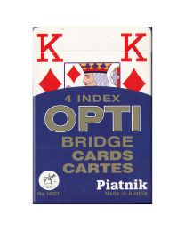 Piatnik 4 index OPTI Bridge Cards blauw