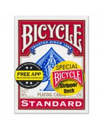 Bicycle Stripper Deck rood