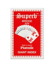 Piatnik Superb Giant Index Playing Cards Rood