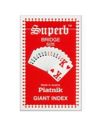 Piatnik Superb Giant Index Playing Cards Rood
