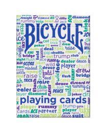 Bicycle tafel gesprek speelkaarten blauw