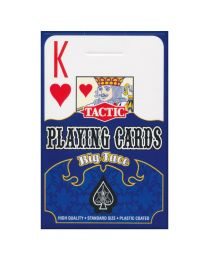 Tactic Playing Cards Big Face Blauw