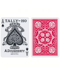 Tally-Ho Fan Back kaarten Rood