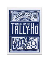 Tally-Ho Fan Back kaarten Blauw