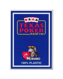 Plastic speelkaarten Modiano Texas poker blauw