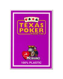 Plastic speelkaarten Modiano Texas poker paars