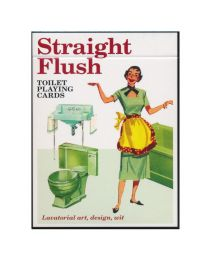 Straight flush toilet speelkaarten Piatnik