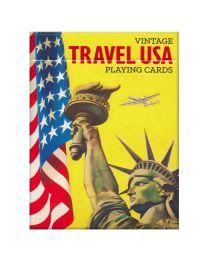Vintage reizen USA speelkaarten