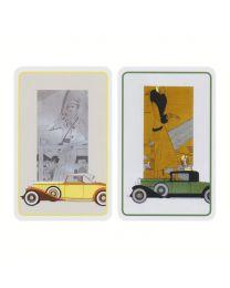Vintage voertuigen bridge kaarten Piatnik