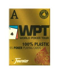 World Poker Tour gouden editie speelkaarten rood Fournier