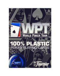 Fournier WPT 100% plastic blauw