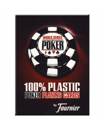 WSOP Plastic Pokerkaarten Rood door Fournier