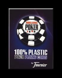 WSOP Plastic Pokerkaarten Blauw door Fournier