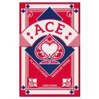 Bridge kaartspel ACE linen finish rood