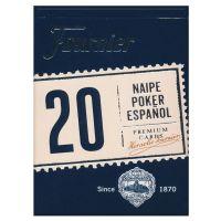 Spaanse speelkaarten Fournier 20 blauw