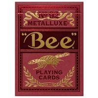 Bee Red Metalluxe speelkaarten