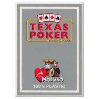 Plastic speelkaarten Modiano Texas poker grijs