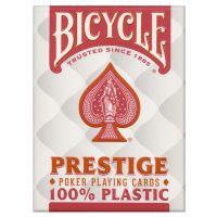 Bicycle Prestige 100% plastic kaarten rood