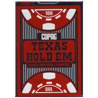 COPAG Texas Hold'em Poker Kaarten Peek Index rood