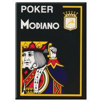 Zwarte plastic speelkaarten Modiano