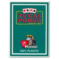 Plastic speelkaarten Modiano Texas poker groen