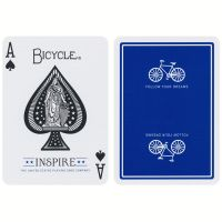 Bicycle Inspire speelkaarten blauw