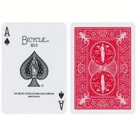 Bicycle Maiden Back gemerkte speelkaarten rood