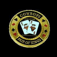 Poker Card Guard Cowboys Pair of King
