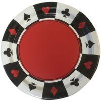 Speelkaarten bordjes (8 stuks)