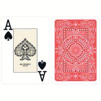 Plastic speelkaarten Modiano Texas poker rood