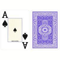 Plastic Poker Speelkaarten Piatnik Jumbo Index Blauw
