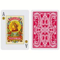 Spaanse speelkaarten Fournier 20 rood