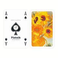 Van Gogh Zonnebloemen speelkaarten Piatnik